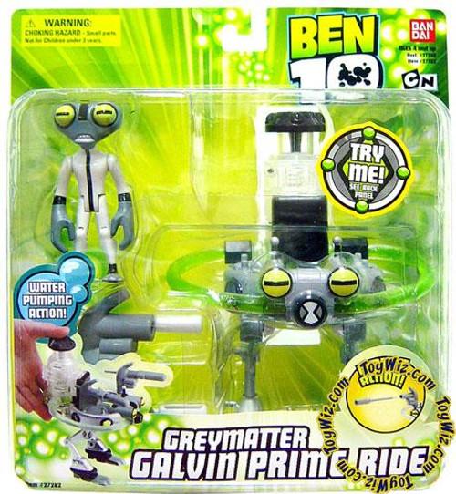 Ben 10 Greymatter Galvin Prime Ride Action Figure Set
