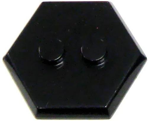 Catspaw Customs 2-Stud MiniFig Hex Stand [Black]