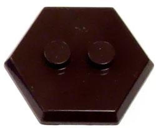 Catspaw Customs 2-Stud MiniFig Hex Stand [Dark Brown]