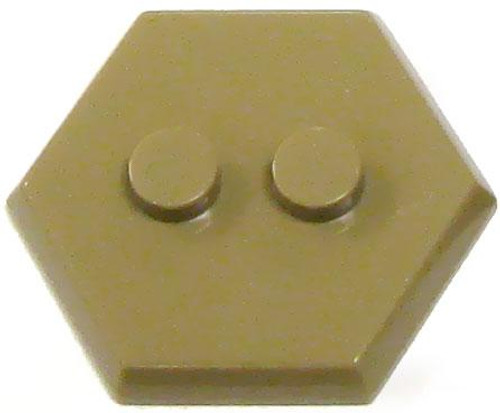 Catspaw Customs 2-Stud MiniFig Hex Stand [Dark Tan ]
