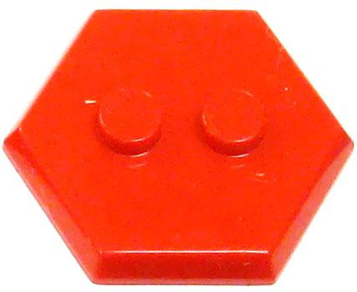 Catspaw Customs 2-Stud MiniFig Hex Stand [Red]