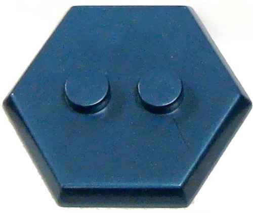 Catspaw Customs 2-Stud MiniFig Hex Stand [Cobalt]