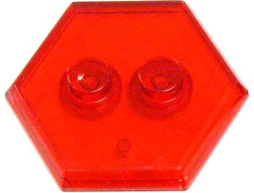 Catspaw Customs 2-Stud MiniFig Hex Stand [Trans Red]
