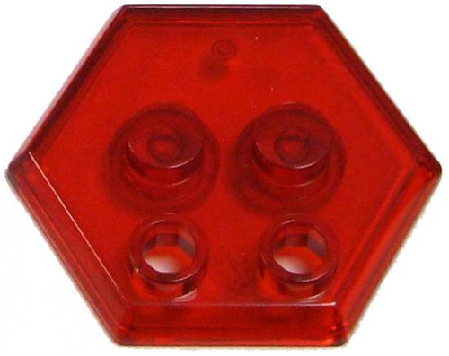 Catspaw Customs 4-Stud MiniFig Hex Stand [Trans Red]