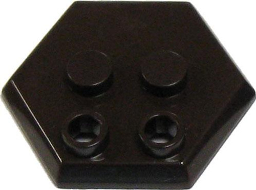 Catspaw Customs 4-Stud MiniFig Hex Stand [Dark Brown]