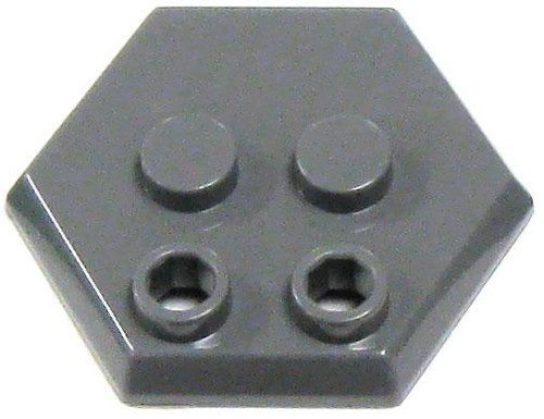Catspaw Customs 4-Stud MiniFig Hex Stand [Dark Gray]