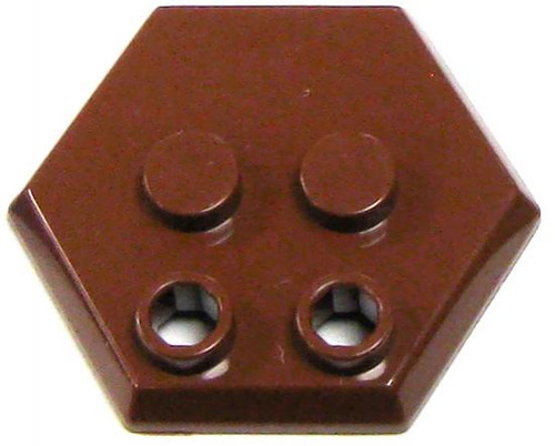 Catspaw Customs 4-Stud MiniFig Hex Stand [Brown]