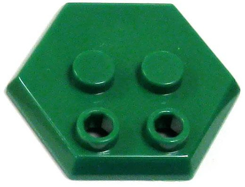 Catspaw Customs 4-Stud MiniFig Hex Stand [Green]