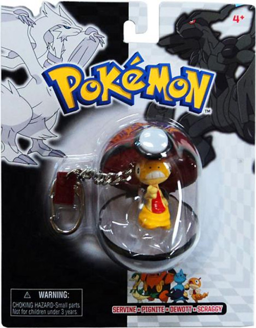 Pokemon Black & White Series 25 Scraggy Keychain