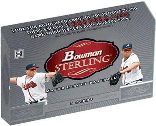 MLB 2009 Bowman Sterling Baseball Cards Hobby Box