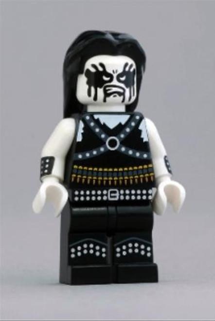 Citizen Brick Custom Painted Norweigan Black Metal Enthusiast Minifigure