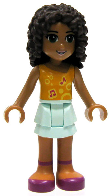 LEGO Friends Loose Andrea Minifigure [Orange Top Loose]