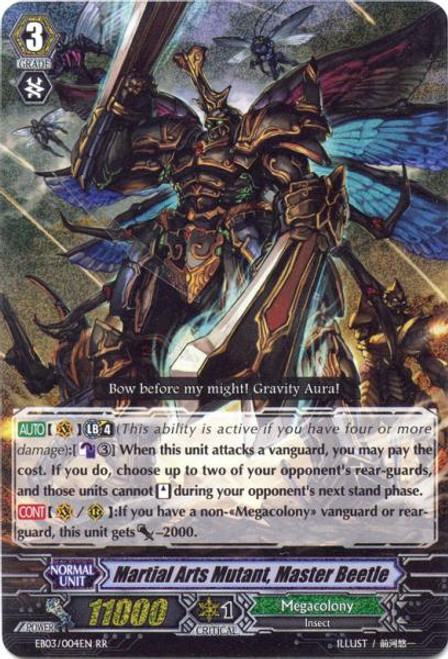 Cardfight Vanguard Cavalry of Black Steel RR Rare Martial Arts Mutant, Master Beetle EB03-004