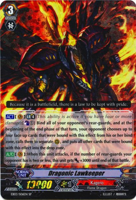 Cardfight Vanguard Cavalry of Black Steel RR Rare Dragonic Lawkeeper EB03-007