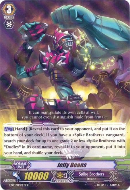 Cardfight Vanguard Cavalry of Black Steel Rare Jelly Beans EB03-008