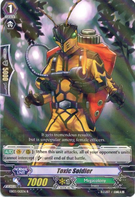 Cardfight Vanguard Cavalry of Black Steel Rare Toxic Soldier EB03-012