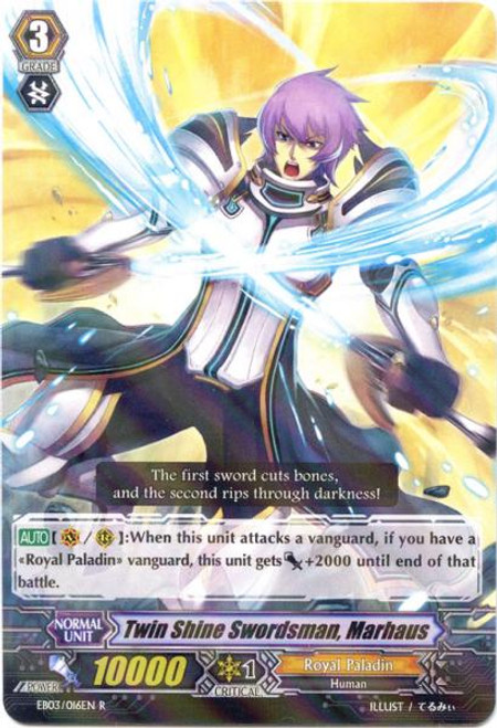 Cardfight Vanguard Cavalry of Black Steel Rare Twin Shine Swordsman, Marhaus EB03-016