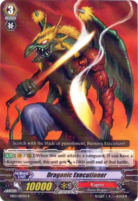 Cardfight Vanguard Cavalry of Black Steel Rare Dragonic Executioner EB03-017
