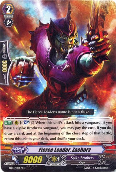Cardfight Vanguard Cavalry of Black Steel Common Fierce Leader, Zachary EB03-019
