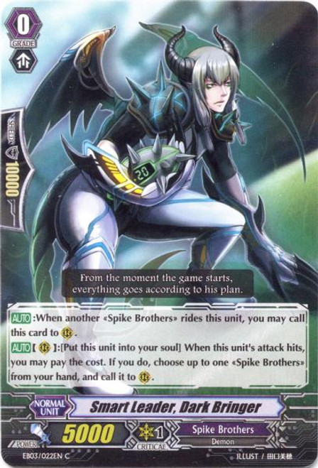Cardfight Vanguard Cavalry of Black Steel Common Smart Leader, Dark Bringer EB03-022