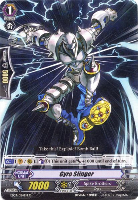 Cardfight Vanguard Cavalry of Black Steel Common Gyro Slinger EB03-024