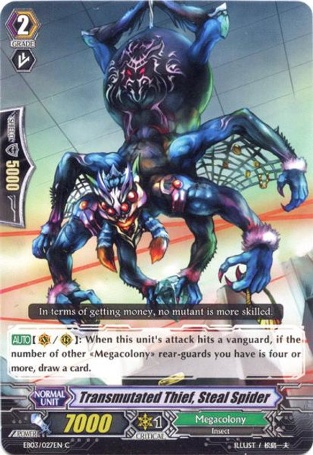 Cardfight Vanguard Cavalry of Black Steel Common Transmutated Thief, Steal Spider EB03-027
