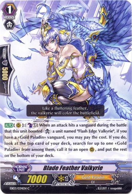 Cardfight Vanguard Cavalry of Black Steel Common Blade Feather Valkyrie EB03-034