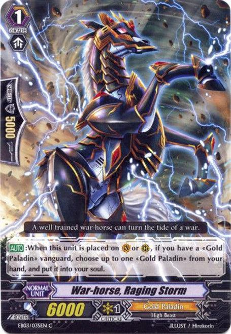 Cardfight Vanguard Cavalry of Black Steel Common War-horse, Raging Storm EB03-035