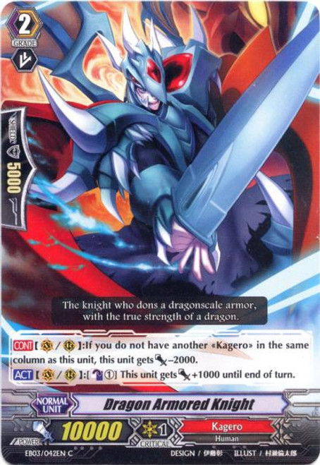 Cardfight Vanguard Cavalry of Black Steel Common Dragon Armored Knight EB03-042