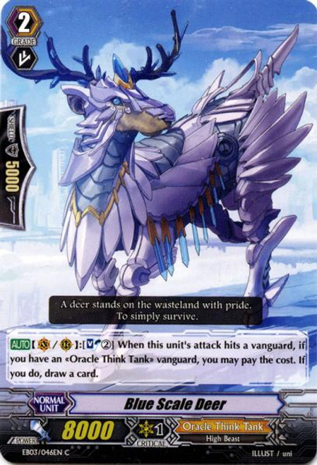Cardfight Vanguard Cavalry of Black Steel Common Blue Scale Deer EB03-046