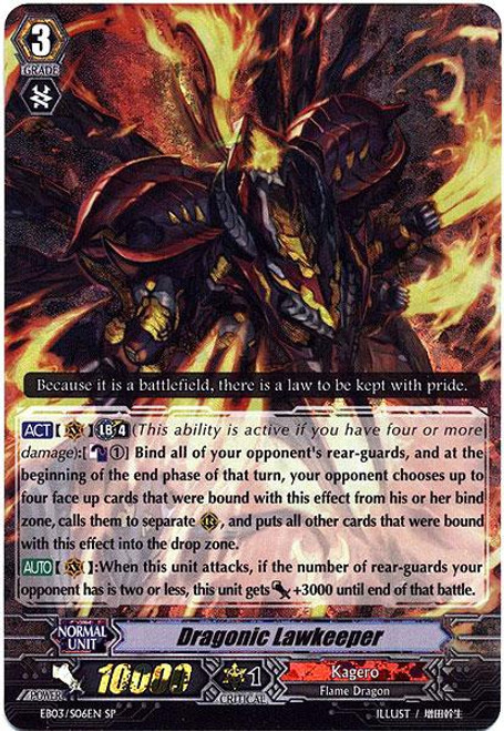 Cardfight Vanguard Cavalry of Black Steel SP Rare Dragonic Lawkeeper EB03-S06