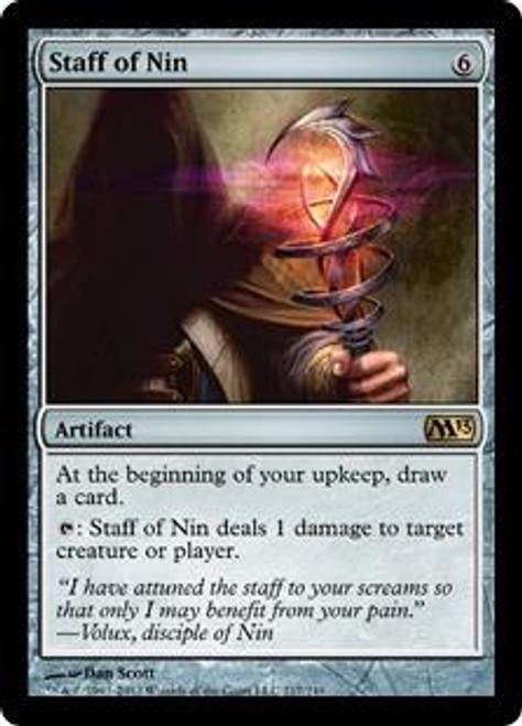 MtG Magic 2013 Rare Staff of Nin #217