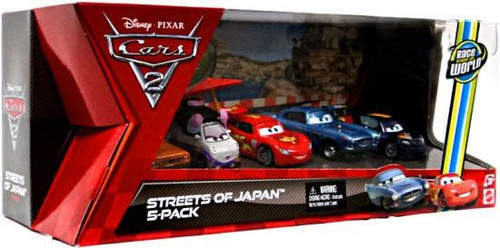 Disney Cars Cars 2 Multi-Packs Streets of Japan 5-Pack Exclusive Diecast Car Set