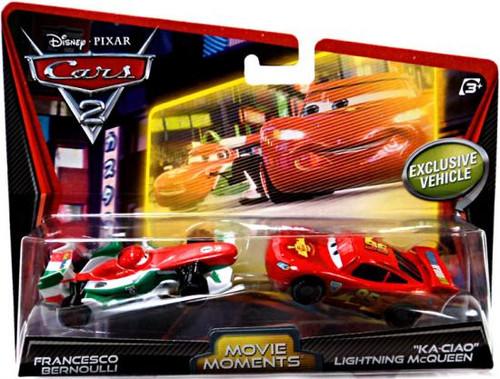Disney Cars Cars 2 2-Packs Francesco Bernoulli & Ka-Ciao Lightning McQueen Diecast Car 2-Pack
