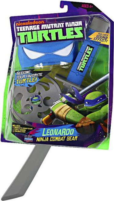 Teenage Mutant Ninja Turtles Nickelodeon Leonardo Ninja Combat Gear Roleplay Toy