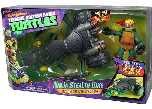 Teenage Mutant Ninja Turtles Nickelodeon Ninja Stealth Bike Action Figure Vehicle