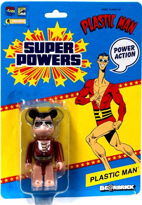 DC Super Powers Bearbrick Plastic Man Be@rbrick Exclusive Minifigure