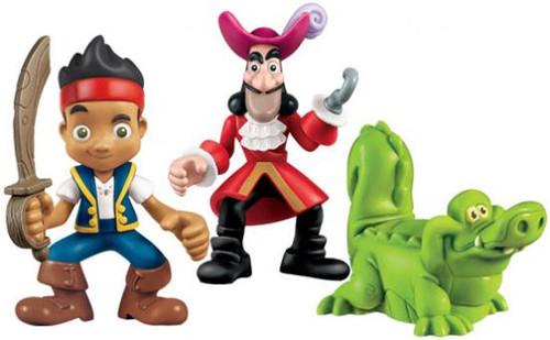 Fisher Price Disney Jake and the Never Land Pirates Hook, Jake & Croc Figure 3-Pack