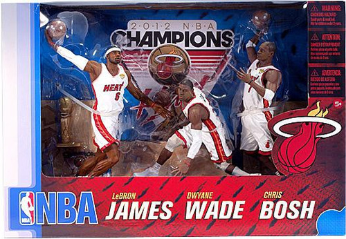 McFarlane Toys NBA Sports Picks Miami Heat Exclusive Action Figure 3-Pack [Championship Edition]