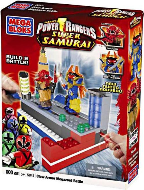 Mega Bloks Power Rangers Super Samurai Claw Armor Megazord Battle Set #5841