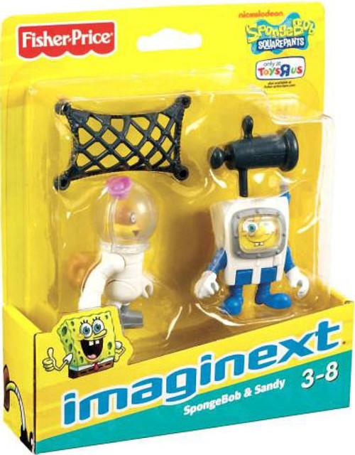 Fisher Price Spongebob Squarepants Imaginext SpongeBob & Sandy Exclusive 2-Inch Mini Figure 2-Pack