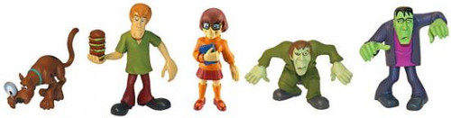 Scooby Doo Mystery Mates Scooby, Creeper, Shaggy, Velma & Frankenstein Mini Figure 5-Pack