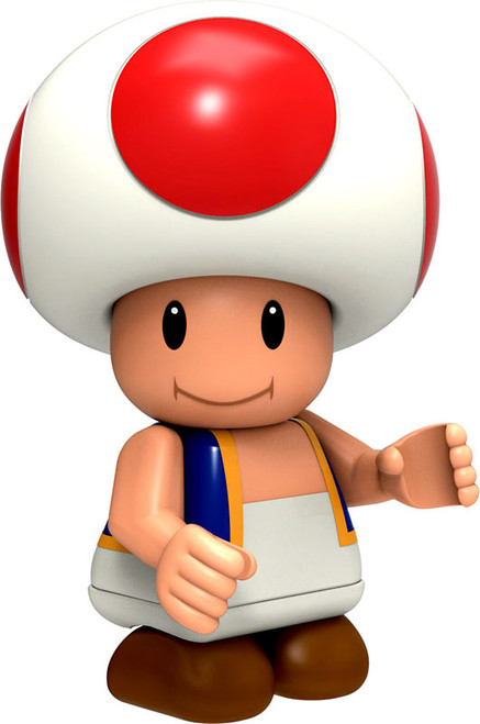 K'NEX Super Mario Series 5 Toad 2-Inch Minifigure [Loose]