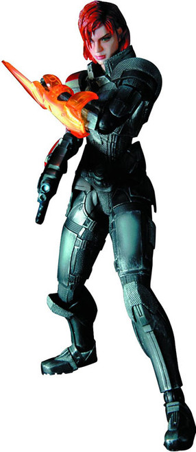 Mass Effect 3 Play Arts Kai Commander Shepard Action Figure [Female]