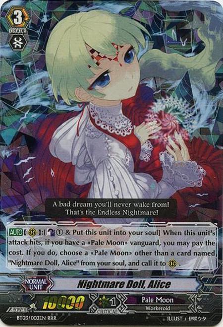 Cardfight Vanguard Demonic Lord Invasion Triple Rare RRR Nightmare Doll, Alice BT03-003