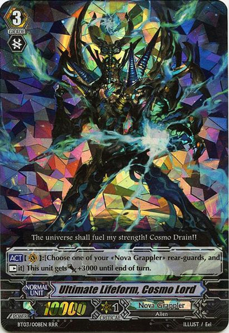 Cardfight Vanguard Demonic Lord Invasion Triple Rare RRR Ultimate Lifeform, Cosmo Lord BT03-008