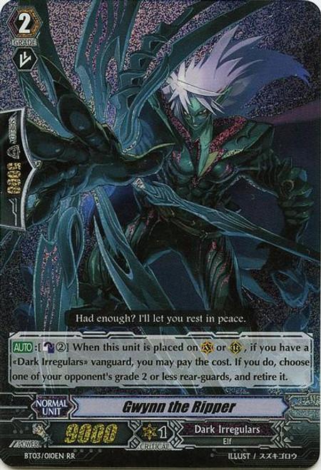 Cardfight Vanguard Demonic Lord Invasion Double Rare RR Gwynn the Ripper BT03-010