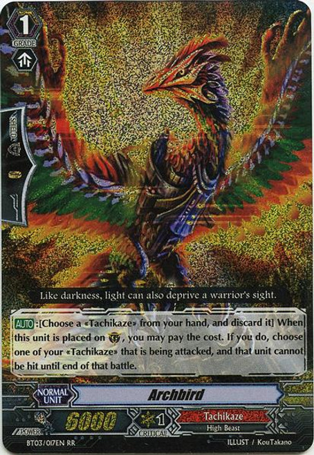Cardfight Vanguard Demonic Lord Invasion Double Rare RR Archbird BT03-017