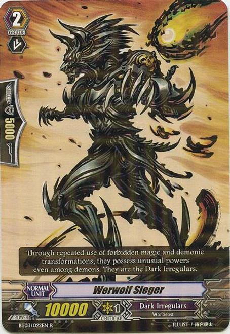 Cardfight Vanguard Demonic Lord Invasion Rare Werwolf Sieger BT03-022