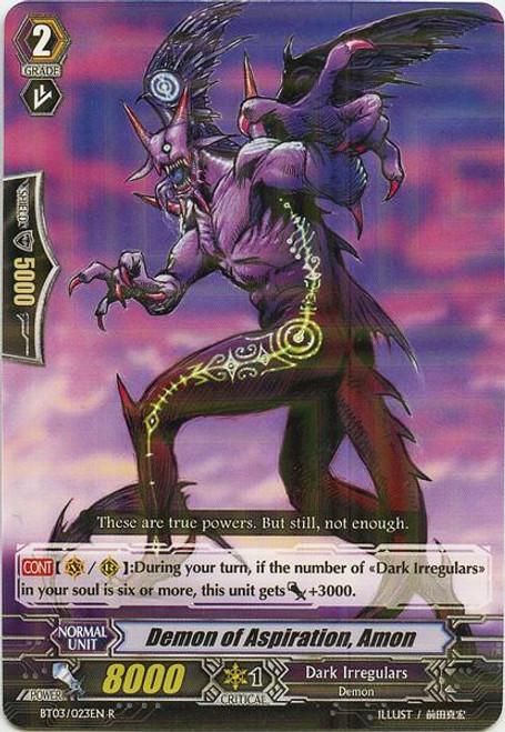 Cardfight Vanguard Demonic Lord Invasion Rare Demon of Aspiration, Amon BT03-023